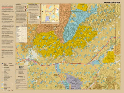 Visitor Map (northern part) of the BLM Moab Field Office area in Utah. Published by the Bureau of Land Management (BLM).