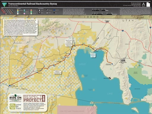map of Transcontinental Railroad - Backcountry Byway Map
