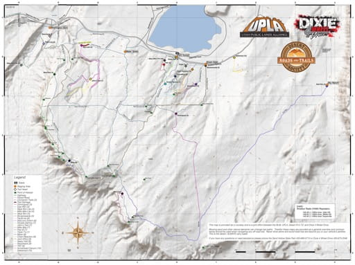Map of Sand Hollow State Park Off-Highway Vehicle (OHV) Area for Off Roading & 4x4 use. Published by Dixie 4 Wheel Drive.