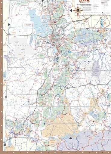 map of Utah State - Highway Map
