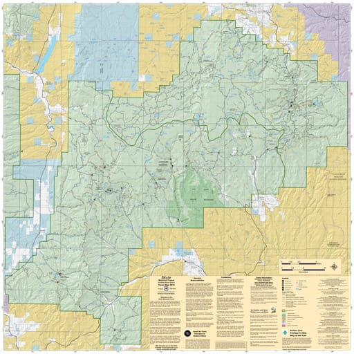 Motor Vehicle Travel Map (MVTM) of Escalante Ranger District in Dixie National Forest (NF). Published by the U.S. Forest Service (USFS).