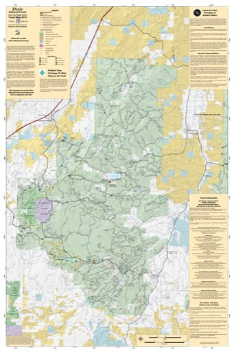 Motor Vehicle Travel Map (MVTM) of Cedar City Valley Ranger District in Dixie National Forest (NF). Published by the U.S. Forest Service (USFS).