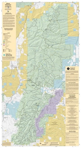 Motor Vehicle Travel Map (MVTM) of Powell Ranger District in Dixie National Forest (NF). Published by the U.S. Forest Service (USFS).