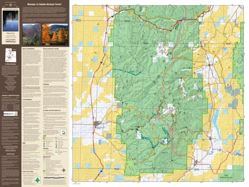 Motor Vehicle Travel Map (MVTM) of Beaver Ranger District in Fishlake National Forest (NF) in Utah. Published by the U.S. National Forest Service (USFS).