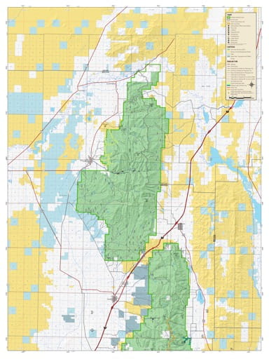Motor Vehicle Travel Map (MVTM) of Fillmore Ranger District (North) in Fishlake National Forest (NF) in Utah. Published by the U.S. National Forest Service (USFS).