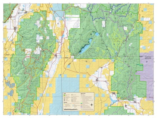 Motor Vehicle Travel Map (MVTM) of Fremont River Ranger District (North) in Fishlake National Forest (NF) in Utah. Published by the U.S. National Forest Service (USFS).