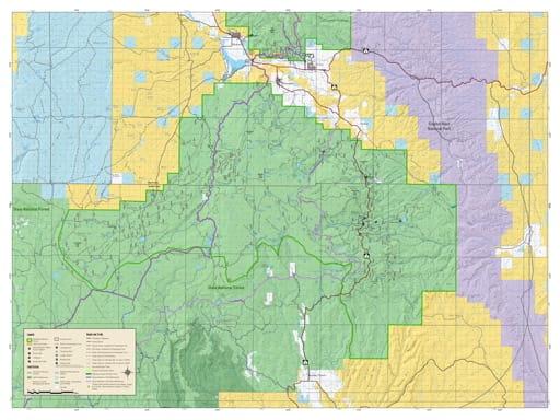 Motor Vehicle Travel Map (MVTM) of Fremont River Ranger District (Teasdale Portion) in Fishlake National Forest (NF) in Utah. Published by the U.S. National Forest Service (USFS).
