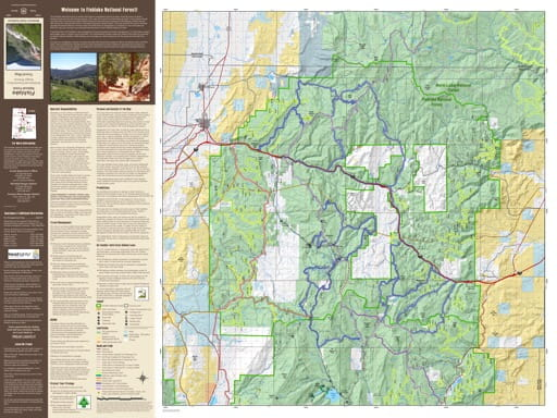 Motor Vehicle Travel Map (MVTM) of the Salina Section of Richfield Ranger District in Fishlake National Forest (NF) in Utah. Published by the U.S. National Forest Service (USFS).