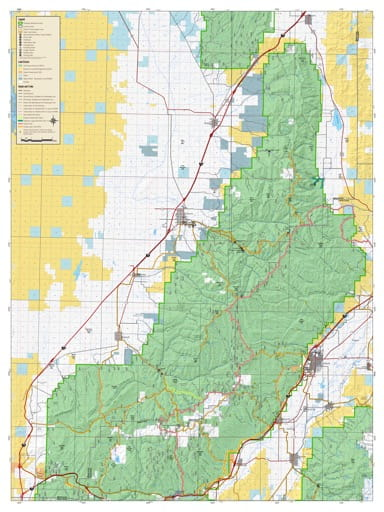 Motor Vehicle Travel Map (MVTM) of Fillmore Ranger District (South) in Fishlake National Forest (NF) in Utah. Published by the U.S. National Forest Service (USFS).
