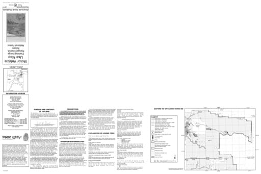 Motor Vehicle Use Map (MVUM) of Flaming Gorge Ranger District (East) in Ashley National Forest (NF) in Utah. Published by the U.S. Forest Service (USFS).