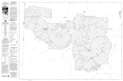 Motor Vehicle Use Map (MVUM) of Pine Valley Ranger District in Dixie National Forest (NF) in Utah. Published by the U.S. Forest Service (USFS).,