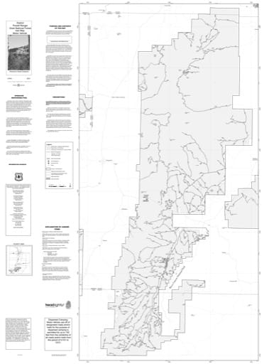Motor Vehicle Use Map (MVUM) of Powell Ranger District in Dixie National Forest (NF) in Utah. Published by the U.S. Forest Service (USFS).,