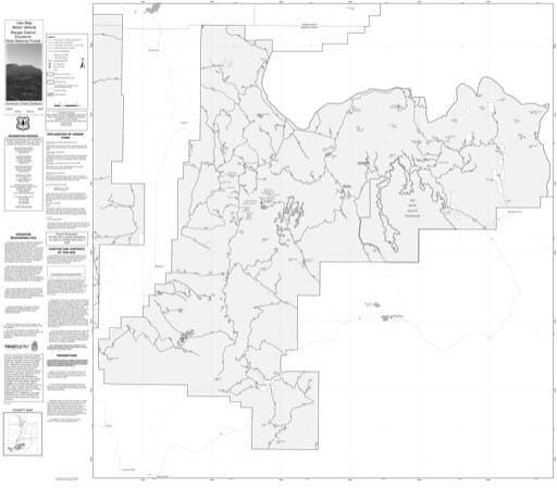 Motor Vehicle Use Map (MVUM) of Escalante Ranger District in Dixie National Forest (NF) in Utah. Published by the U.S. Forest Service (USFS).,