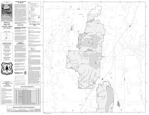 Winter Motor Vehicle Travel Map (MVUM) of the Fillmore North area in Fishlake National Forest (NF) in Utah. Published by the U.S. National Forest Service (USFS).