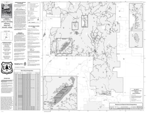Motor Vehicle Use Map (MVUM) of Fremont River Ranger District (North) in Fishlake National Forest (NF) in Utah. Published by the U.S. National Forest Service (USFS).