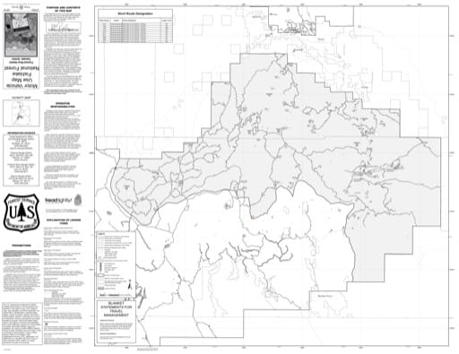 Motor Vehicle Use Map (MVUM) of Fremont River Ranger District (South) in Fishlake National Forest (NF) in Utah. Published by the U.S. National Forest Service (USFS).