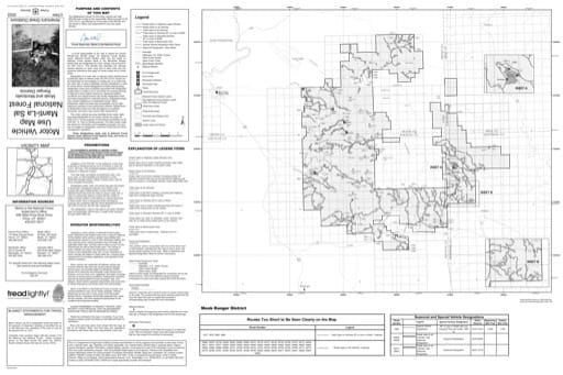 Motor Vehicle Use Map (MVUM) of Moab Ranger District in Manti-La Sal National Forest (NF). Published by the U.S. Forest Service (USFS).
