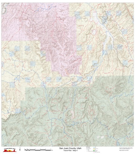 Map 4 of the San Juan County Travel Plan in Utah. Published by San Juan County.