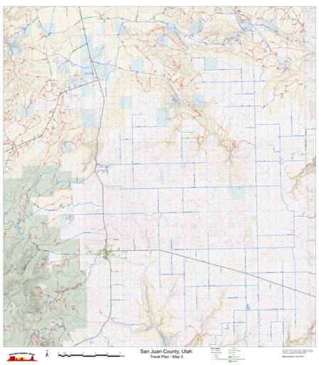 Map 5 of the San Juan County Travel Plan in Utah. Published by San Juan County.