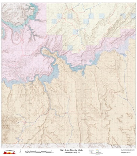 Map 10 of the San Juan County Travel Plan in Utah. Published by San Juan County.
