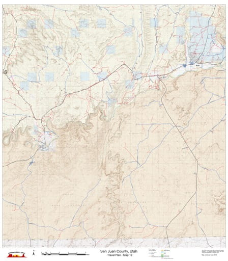 Map 12 of the San Juan County Travel Plan in Utah. Published by San Juan County.