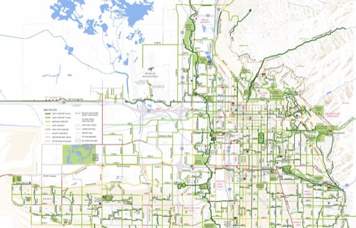 Salt Lake City & Northern Salt Lake County Bikeways Map. Published by Salt Lake City.