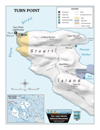 Map of Turn Point in San Juan Islands National Monument (NM). Published by the Bureau of Land Management (BLM).