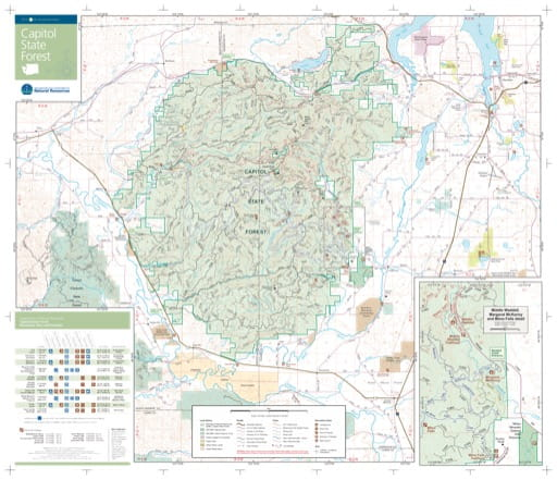 Map of Capitol State Forest. Published by Washington State Department of Natural Resources (WSDNR).