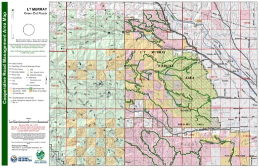 Map of LT Murray Wildlife Area. Published by Washington State Department of Natural Resources (WSDNR).