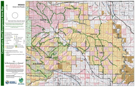 Map of Wenas Wildlife Area. Published by Washington State Department of Natural Resources (WSDNR).