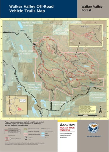 Map of Off-Road Vehicle Trails in Walker Valley Forest. Published by Washington State Department of Natural Resources (WSDNR).
