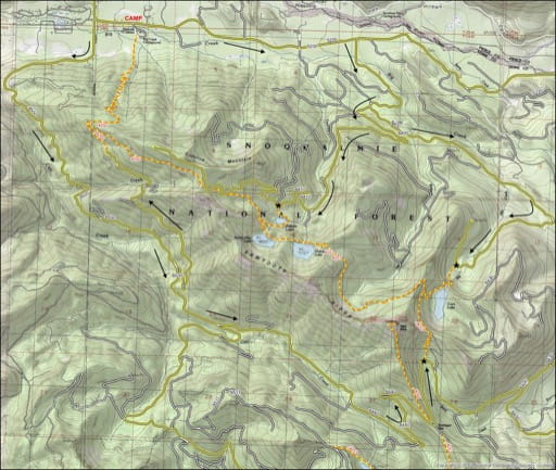Map of Osborne Mountain. Published by the Evergreen Mountain Bike Alliance.