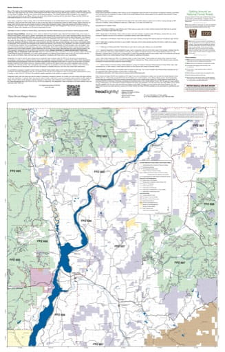 Forest User's Map of Three Rivers Ranger District (RD) of Colville National Forest (NF) in Washington. Published by the U.S. Forest Service (USFS).