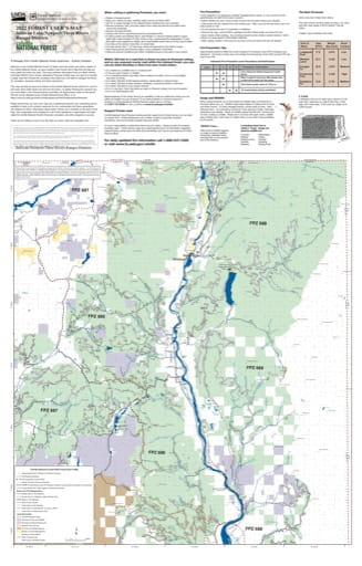 Forest User's Map of Sullivan/Newport/Three Rivers Ranger Districts (RD) of Colville National Forest (NF) in Washington. Published by the U.S. Forest Service (USFS).