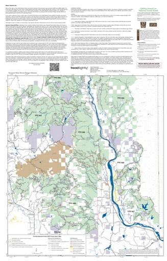Forest User's Map of Newport/Three Rivers Ranger Districts (RD) of Colville National Forest (NF) in Washington. Published by the U.S. Forest Service (USFS).