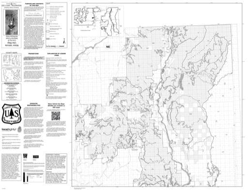 Motor Vehicle Use Map (MVUM) of Northeast Area of Colville National Forest (NF) in Washington. Published by the U.S. Forest Service (USFS).