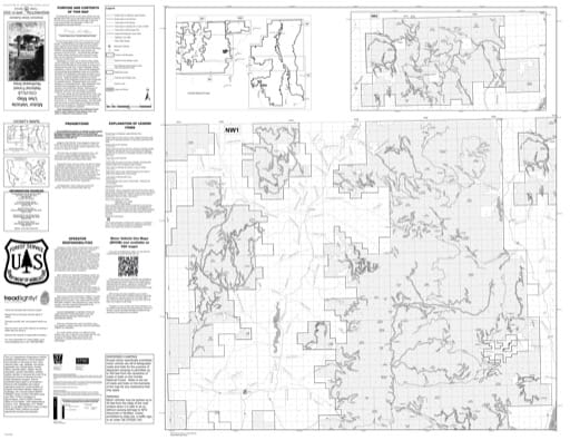 Motor Vehicle Use Map (MVUM) of Northwest Area of Colville National Forest (NF) in Washington. Published by the U.S. Forest Service (USFS).