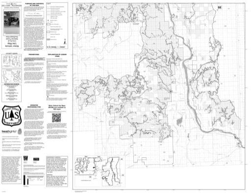 Motor Vehicle Use Map (MVUM) of Southeast Area of Colville National Forest (NF) in Washington. Published by the U.S. Forest Service (USFS).