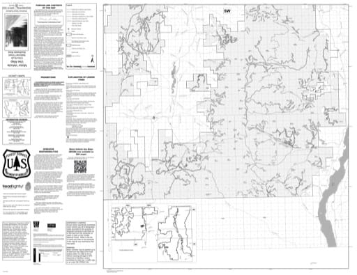 Motor Vehicle Use Map (MVUM) of Southwest Area of Colville National Forest (NF) in Washington. Published by the U.S. Forest Service (USFS).
