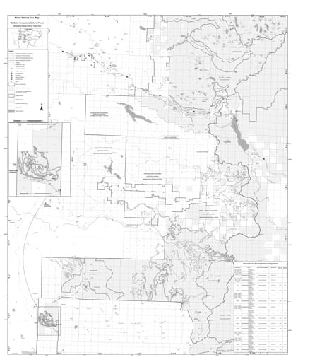 Motor Vehicle Use Map (MVUM) of Snoqualmie Ranger District in Mt. Baker-Snoqualmie National Forest (NF) in Washington. Published by the U.S. Forest Service (USFS).