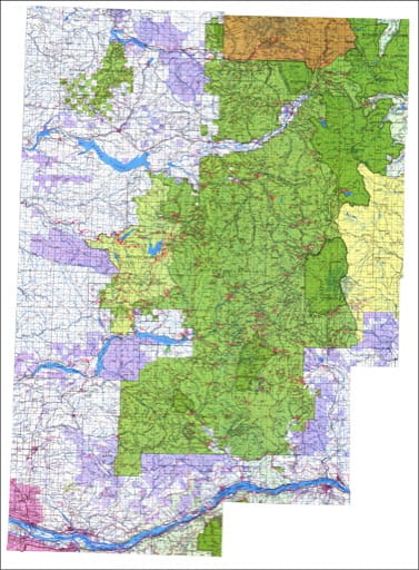 Visitor map of Gifford Pinchot National Forest (NF). Published by the U.S. Forest Service (USFS).