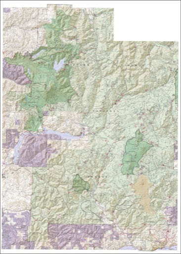 Recreation map of Mount St. Helens National Volcanic Monument (NVM) in Gifford Pinchot National Forest (NF). Published by the U.S. Forest Service (USFS).