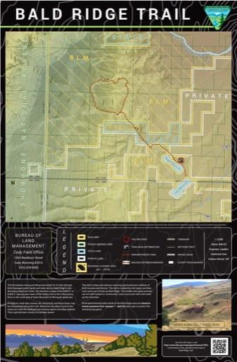 map of Bald Ridge - Trail Map