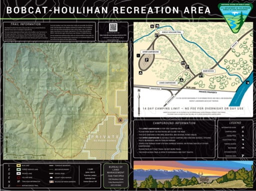 map of Bobcat Houlihan - Trail and Recreation Map