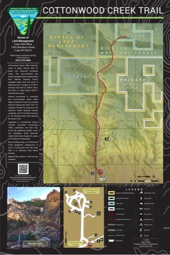 map of Cottonwood Creek - Trail Map