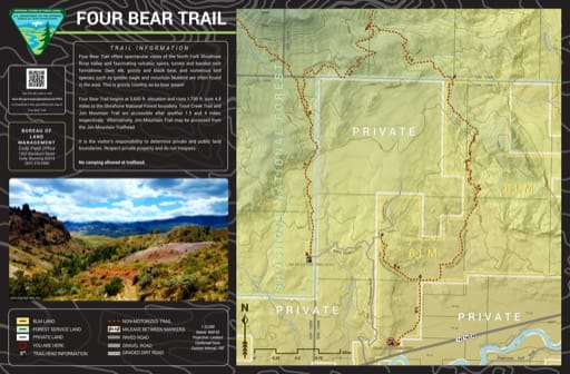 map of Four Bear - Trail Map