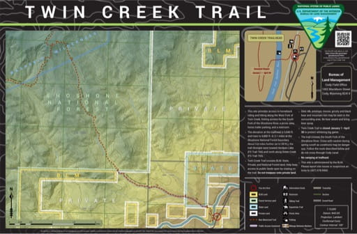 map of Twin Creek - Trail Map