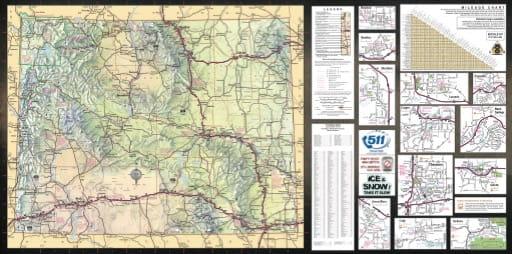 map of Wyoming State - Wyoming State Map
