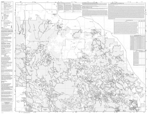 Motor Vehicle Use Map (MVUM) of Bearlodge and Northern Hills Ranger Districts in the Black Hills National Forest (NF) in Wyoming. Published by the U.S. Forest Service (USFS).
