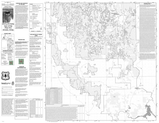 Motor Vehicle Use Map (MVUM) of Mystic and Hell Canyon Ranger Districts in the Black Hills National Forest (NF) in Wyoming. Published by the U.S. Forest Service (USFS).